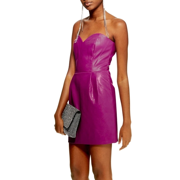Topshop | faux leather dress